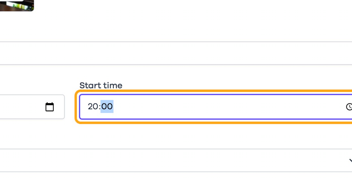 Select a time for when the room opens