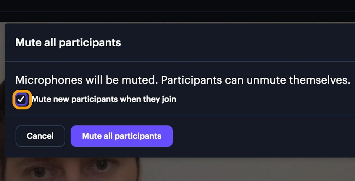 Mute new participants