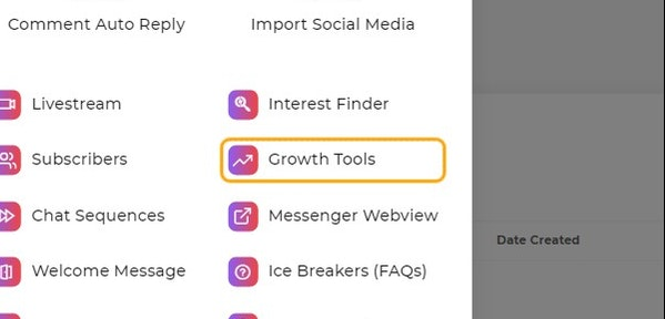 Growth Tools section