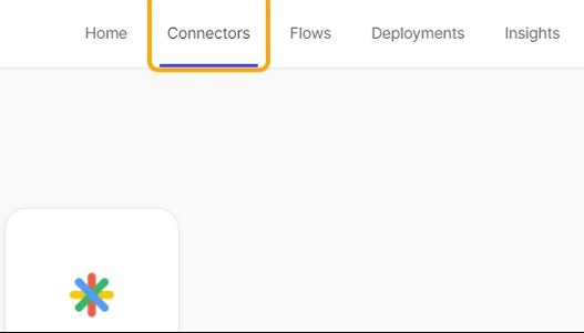 Click on Connectors