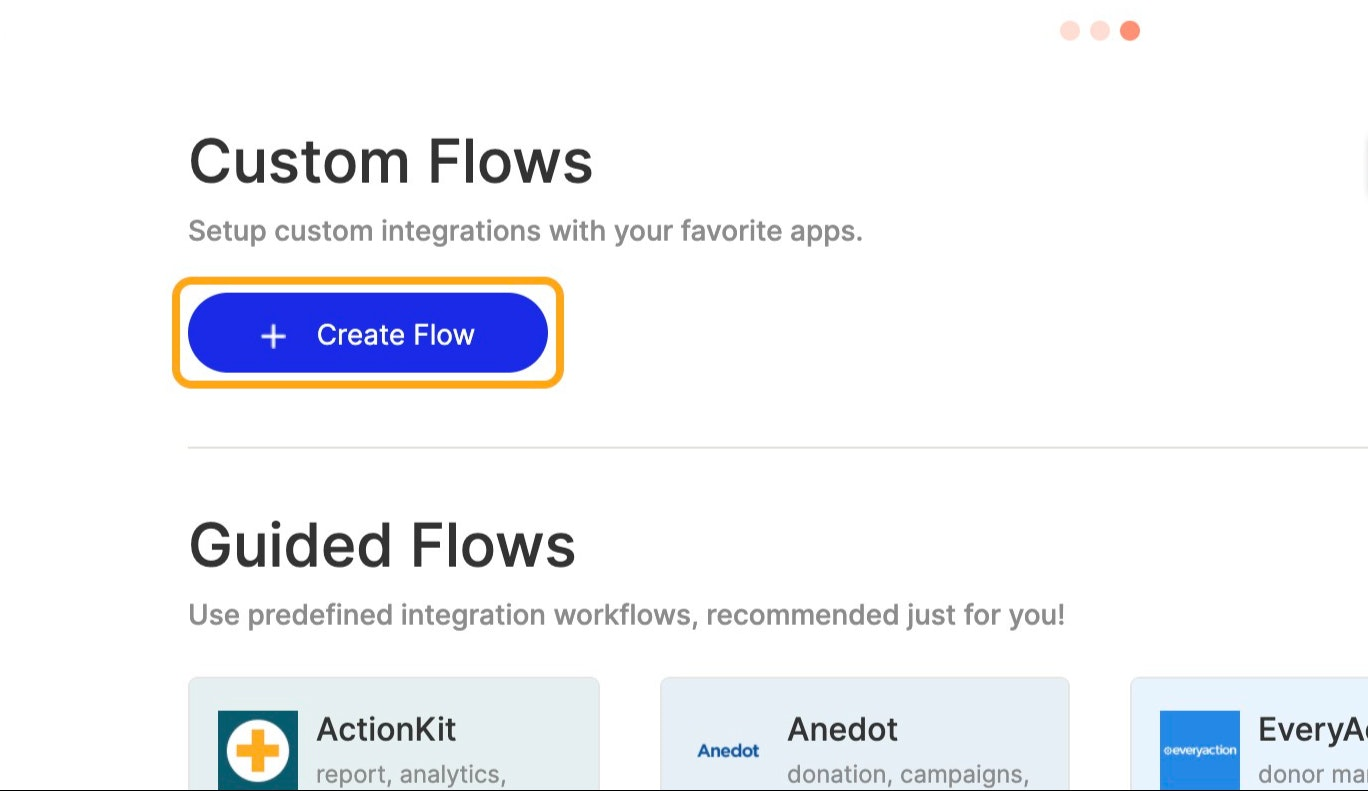 Click on  Create Flow