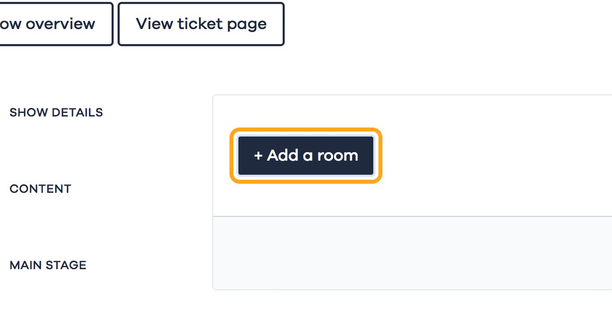 Click on + Add a room