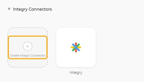 Click on Create Integry Connector